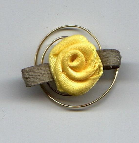 Yellow Rose Hair Swirls Twists Spins Spirals Coils for Bridesmaids Flower Girls Prom Easter