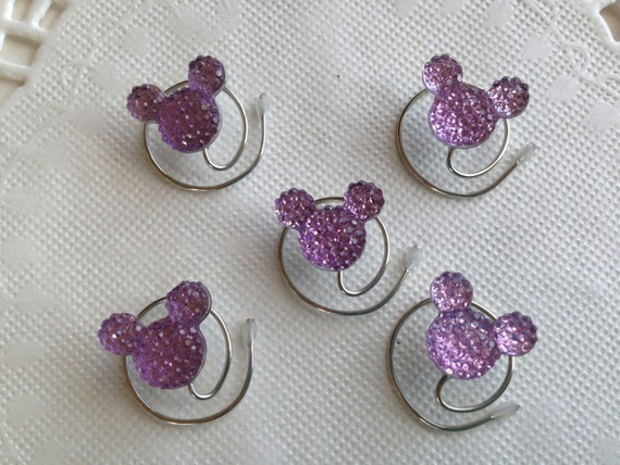 MOUSE EARS Hair Swirls for Disney Wedding in Dazzling Lilac Acrylic