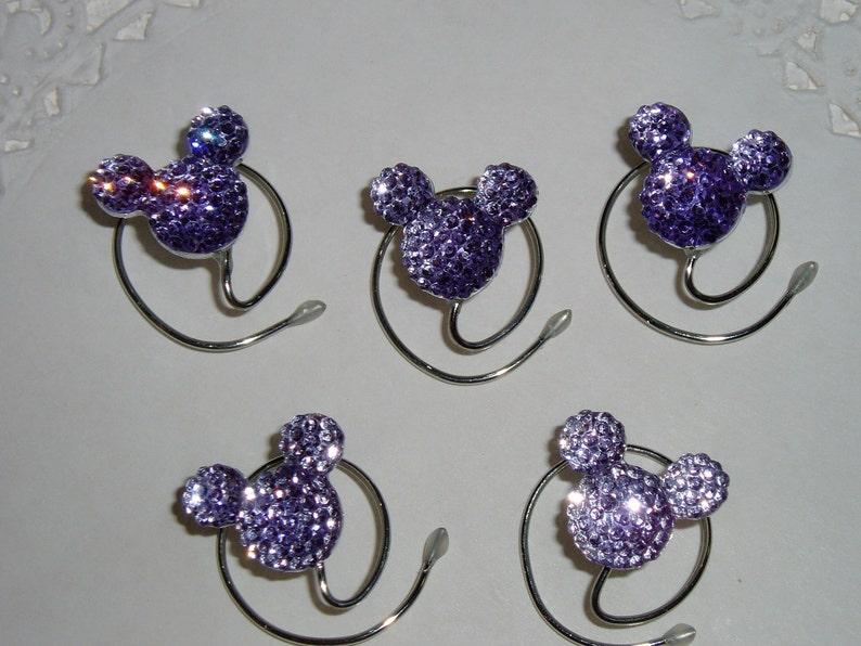 Disney Wedding Hair Swirls-MOUSE EARS-Hair Coils-Lavender image 0