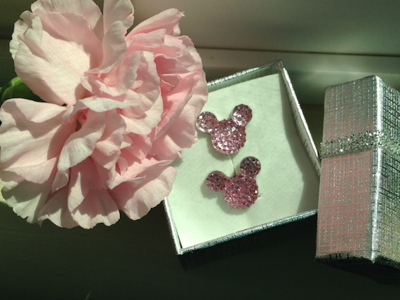 MOUSE EARS Cufflinks for Wedding Party in Dazzling Baby Pink Acrylic