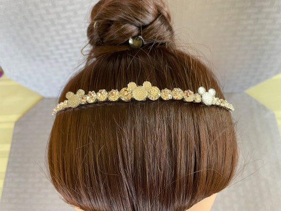 Disney Inspired Headband-Thin Silver Band-Wedding Brides-Bridesmaids