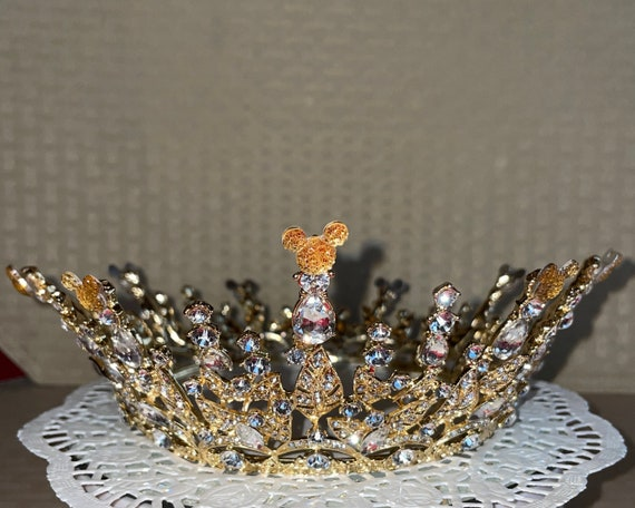 RESERVED For STEPHANIE-Disney Inspired Crown-Wedding Crown-Full Circle Crown-Disney Cruise-Bridal Shower Gift-Disney Dapper Days-Champagne