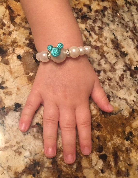 Flower Girl Bracelet-Mickey Minnie Mouse Bracelets-Toddler Bracelets-Cinderella Gift-Disney Trip