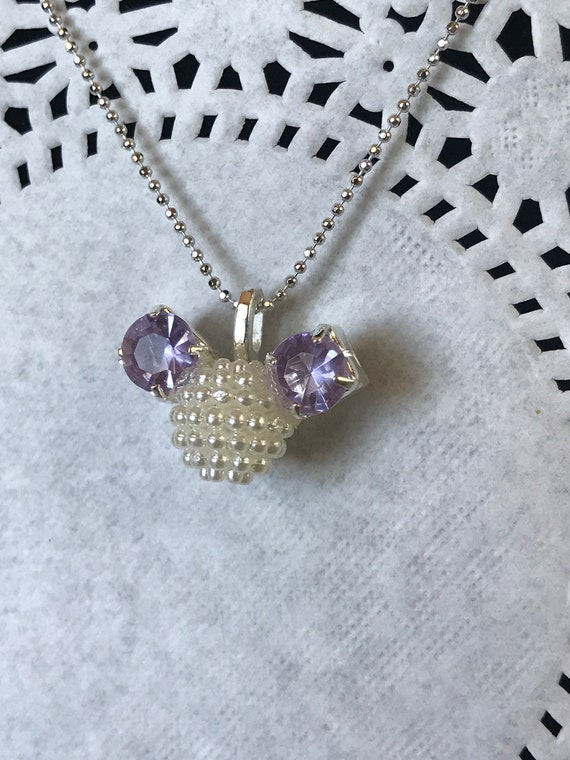 Disneyland Trip-Disney Cruise-Disney Bridesmaids Necklace-Minnie Mouse Pendant-Cinderella Gift-Disney Fanatic Gift