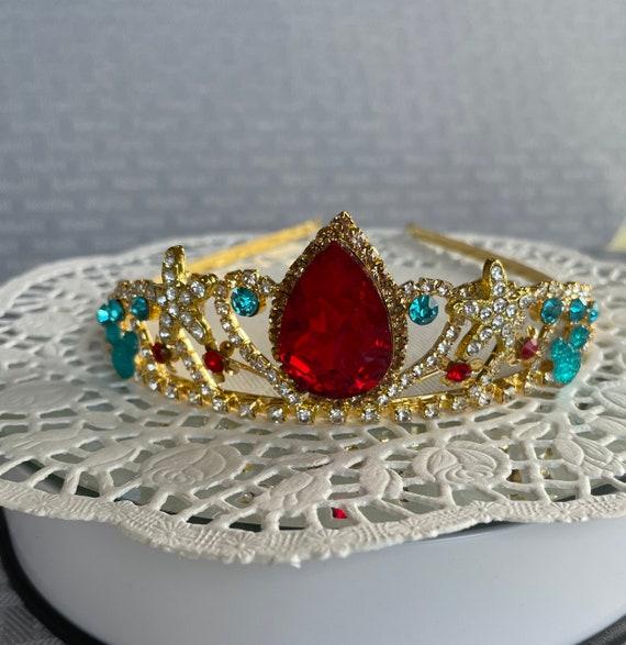 Ariel Inspired-Bridesmaid Tiara-Disney Inspired Wedding-Bridesmaid Tiara-Hidden Mickey Too! Mermaid Tiara