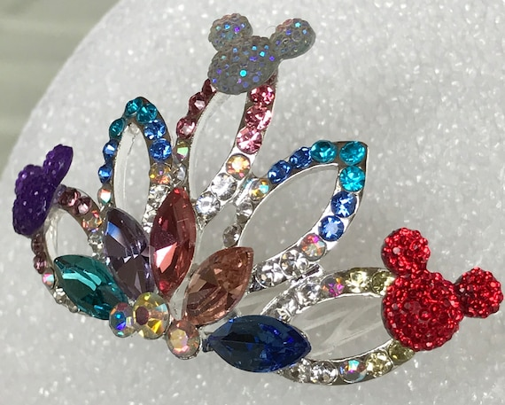 RESERVED for BRIETABARBIE-Mini Tiara Comb-Disney Flower Girl-Disney Cruise-Decorative Comb-Multi Color- Bridesmaids-Wedding Shower