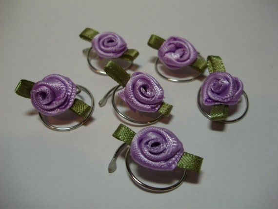 Beautiful Lavender Roses for your Hair Swirls Spins Twists Spirals Coils