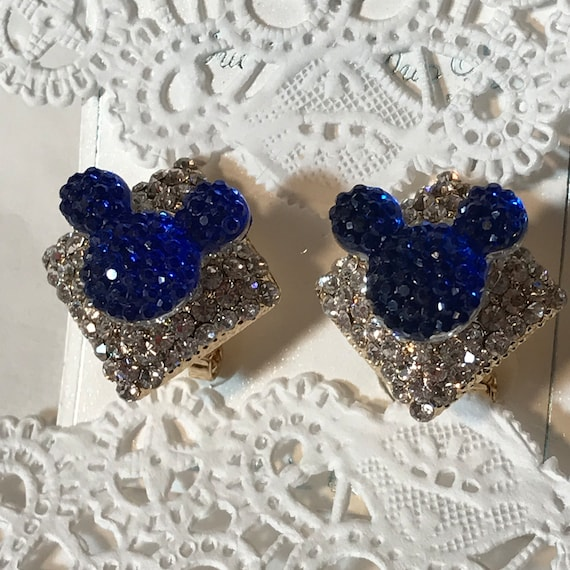 Disney Inspired Wedding-Mickey Pierced Earrings-Bridal Party-Bridesmaid Gift-Dapper Days-Disney Cruise