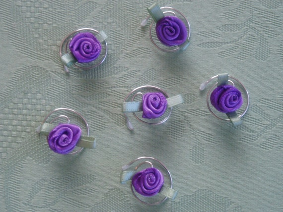 Purple Rose Hair Swirls Spins Twists Spirals Coils