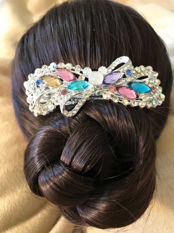 Disney Inspired Barrette-Dapper Days-Rhinestone Hair Accessory-Bachelorette Party-Bridal Shower Gift-Engagement Party