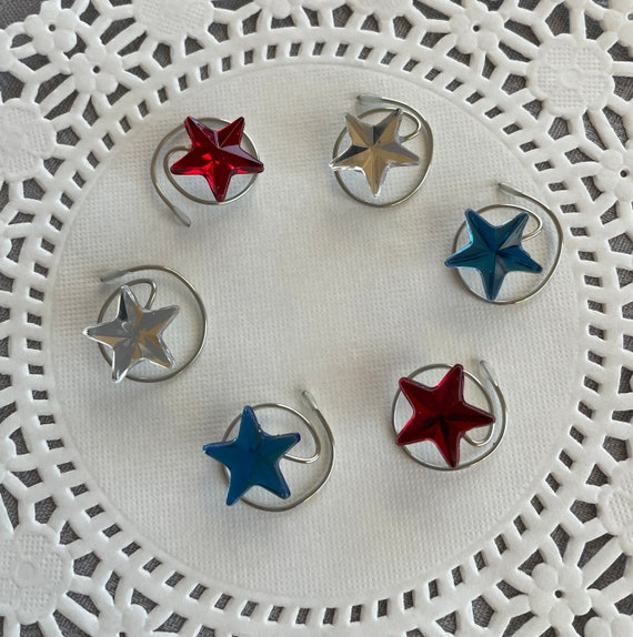 Celestial Stars in Red White and Blue-Fourth of July Celebration Accessory-