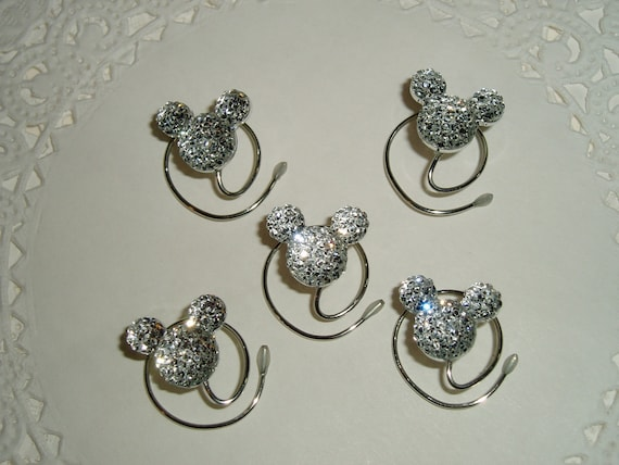 Disney Wedding Hair Swirls MOUSE EARS in Dazzling Clear Acrylic Bridal Party Flower Girls Disney Trip