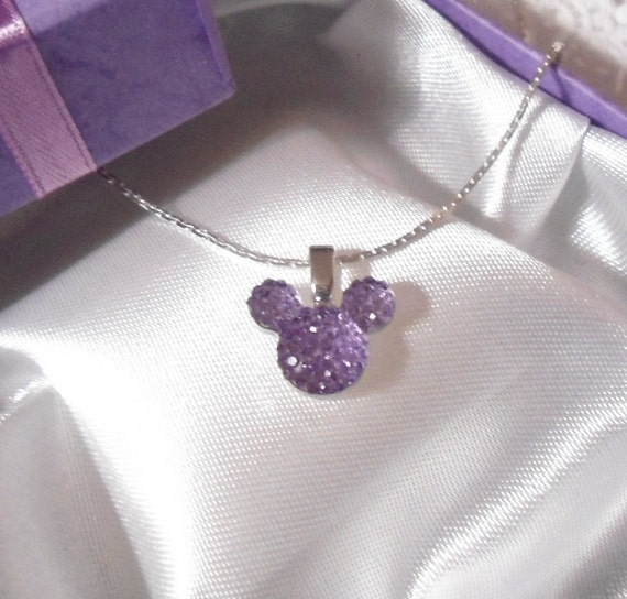 MOUSE EARS Necklace for Mouse Themed Wedding Party in Dazzling Lavender Acrylic