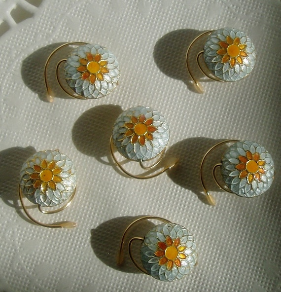 Hair Swirls Sun Flower Cloisonne Spins Spirals Coils Summer Wedding