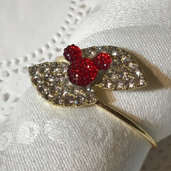 Mickey Mouse Napkin Rings-Rehearsal Dinner Favor-Wedding Reception Head Table