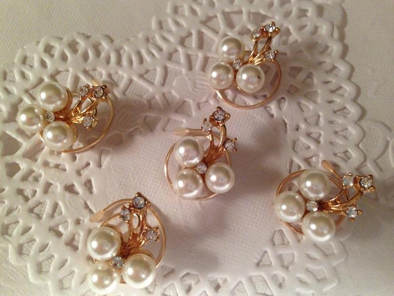 Bridal Rhinestones and Pearls-Hair Swirls-Spins-Spirals-Twists-Spin Pins-Bridesmaids-Ballroom Dancers