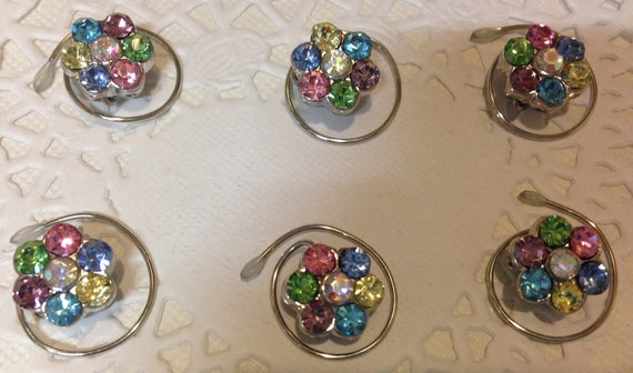 Ballroom Dancing-Swarovski Hair Spins-Rainbow Flower Hair Coils-Spirals-Hair Swirls