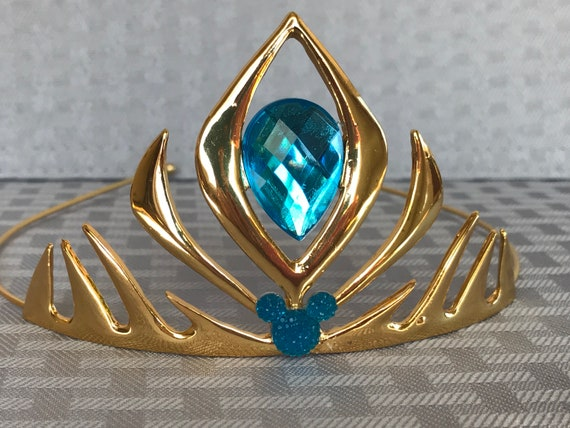 Queen Elsa Tiara Crown-Aqua Blue-Frozen Birthday Party-Disney Princess