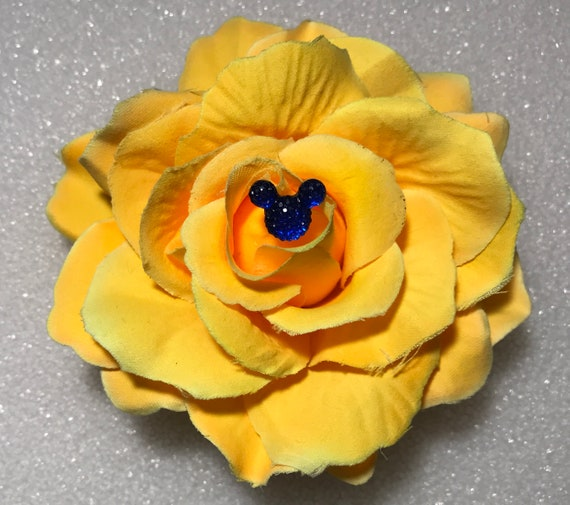 Snow White Inspired -Hair Jewelry-Disney Dapper Days-Disney Wedding Shower Gift-Yellow Rose Barrette Pin