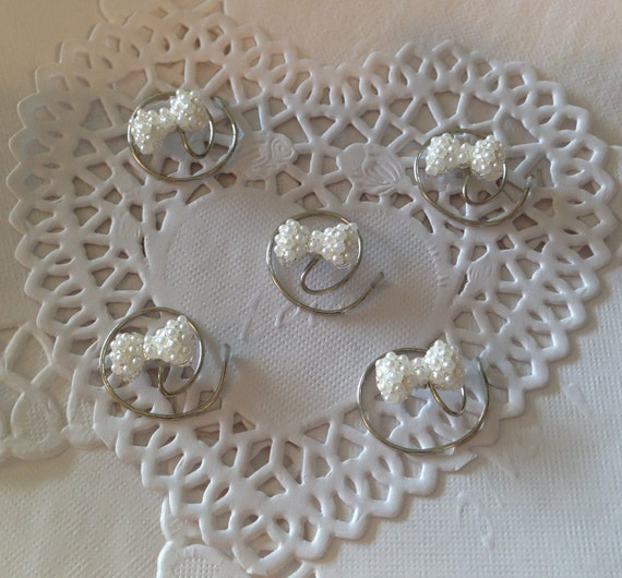 Pearl Bows Hair Swirls Hair Spins Twists Coils Spirals Spin Pins Brides Bridesmaids Flower Girls