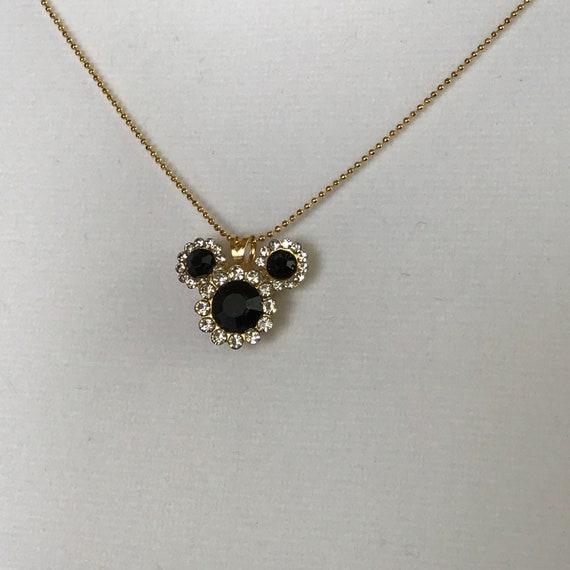 Disney Cruise Necklace-Black Mickey Mouse Pendant-Wedding Bridesmaids