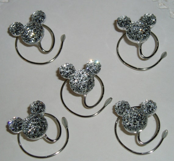 MOUSE EARS Hair Swirls for Wedding in Dazzling Clear Acrylic
