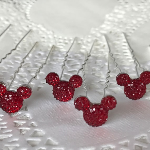 Mickey Mouse Hair PIns-Disney Inspired Wedding-Engagement Party-Bridesmaids-Flower Girls-Birthday Party