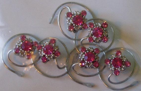Prom Pink Gala Hair Swirls-Ballerina Spins-Bridesmaids Twists-Ballroom Dancing-Flower Girl Spirals Coils