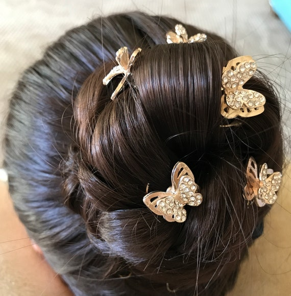 Bachelorette Party Butterflies for your Hair-Ballerinas-Flower Girls-Bridesmaids-Ballroom Dancers-Garden Wedding Hair Swirls