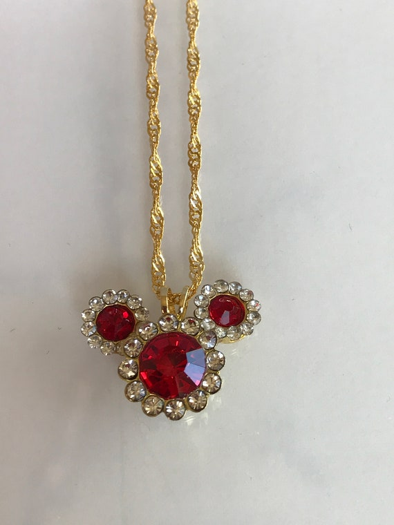 Mickey Birthstone Necklace-Disney Cruise-Mickey Mouse Pendant-Wedding Bridesmaids