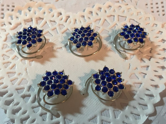 Bridesmaids Hair Jewelry-Ballroom Dancer Hair Swirls-Snowflake Flowers-Spin Pins