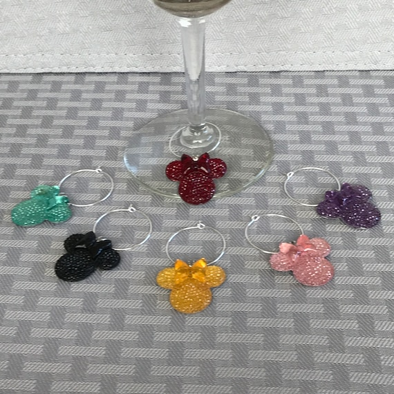 Minnie Mouse Wine Charms-Disney Shower Gift-Reception Favors-Barware