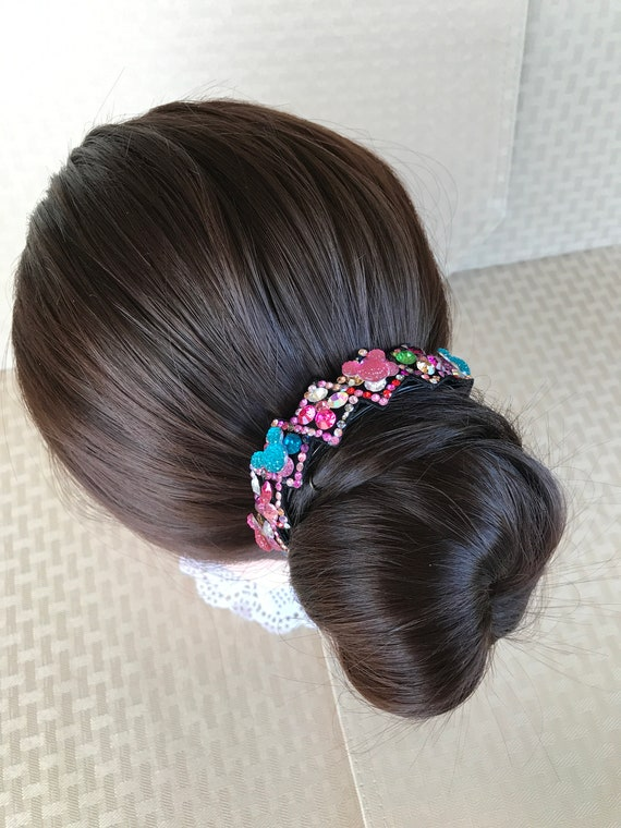 Pony Tail Clasp-Rhinestone Hair Clip-Disney Dapper Days-Wedding Shower-Christmas Stocking Stuffer-Disney Fan Birthday Gift