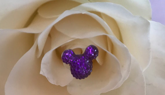Hidden Mickeys Bouquet-Disney Inspired Wedding Centerpiece-Floral Picks-Fairy Tale Wedding Flower Girls-Bridesmaids-Ursula Purple