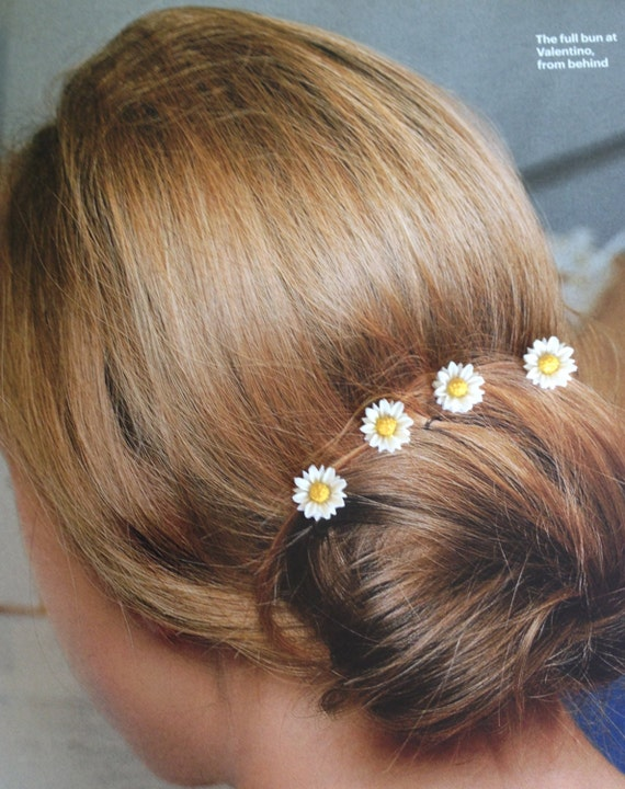 Summer Daisies Hair Swirls Twists Spins Spirals Coils Summer Wedding Hair Accessories Debs Twisties Hairswirls1