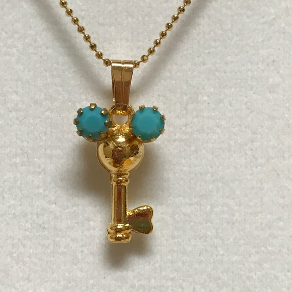 Southwest Mickey Pendant-Hidden Mickey Necklace-Bridesmaids Gift-Flower Girl-Magic Kingdom Key