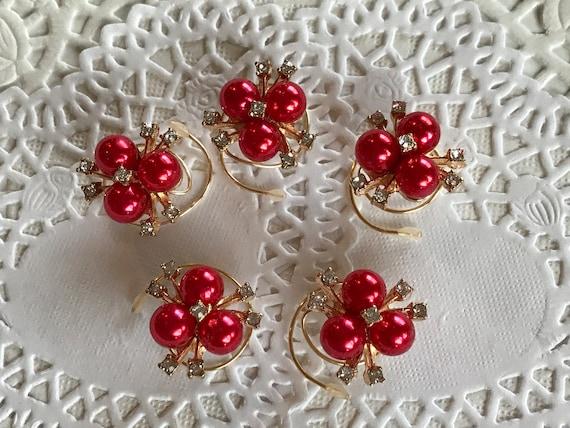 Ballroom Dancer Hair Swirls-Bridesmaids Rhinestones Pearls-Hair Accessory Spins-Hair Spirals-Hair Twists-Spin Pins-Christmas Party