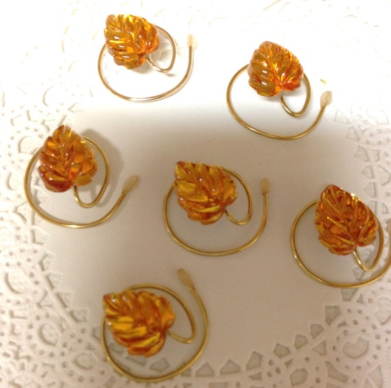 Fall Wedding Glass Topaz Leaf Hair Swirls Hair Spins Hair Twists Hair Coils Hair Spirals