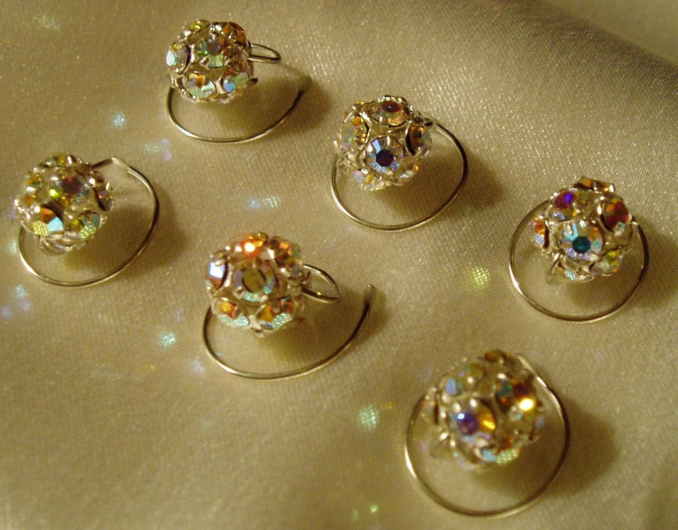 8bceee046 Swarovski Crystal Hair Swirls, Spins, Spirals, Twists, AB Disco Balls ...