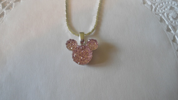 Tinker Bell Gift Necklace-Disney Wedding Party-Pale Baby Pink Acrylic-Disney Trip