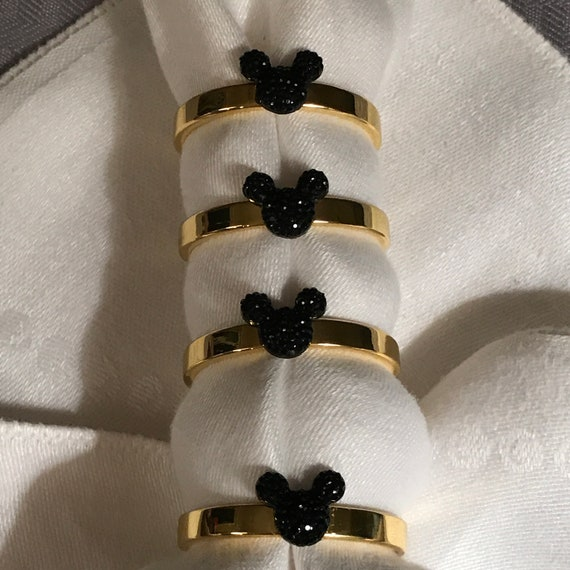 Mickey Mouse Napkin Rings-Rehearsal Dinner Favor-Wedding Reception Head Table-Bride and Groom