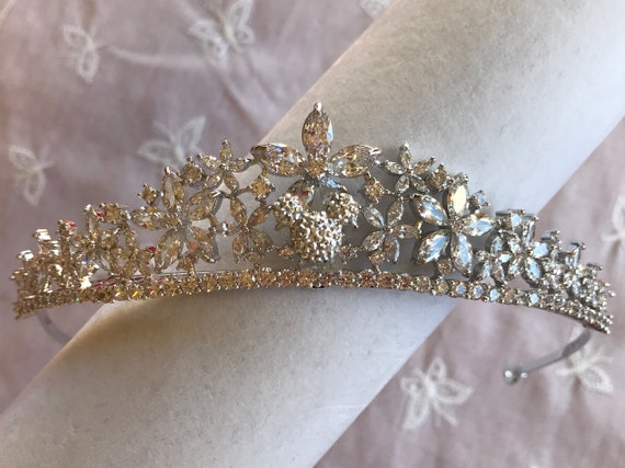 Hidden Mickey Inspired-Disney Themed Wedding-Bride To Be Shower Gift-Silver Tone Mouse Tiara