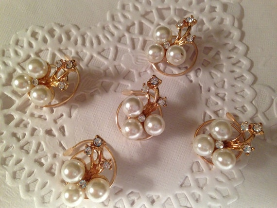 Bridal Hair Accessories-Rhinestones and Pearls Hair Swirls-Spins-Hair Spirals-Hair Twists-Spin Pins-Bridesmaids-Brides-Ballroom Dancers