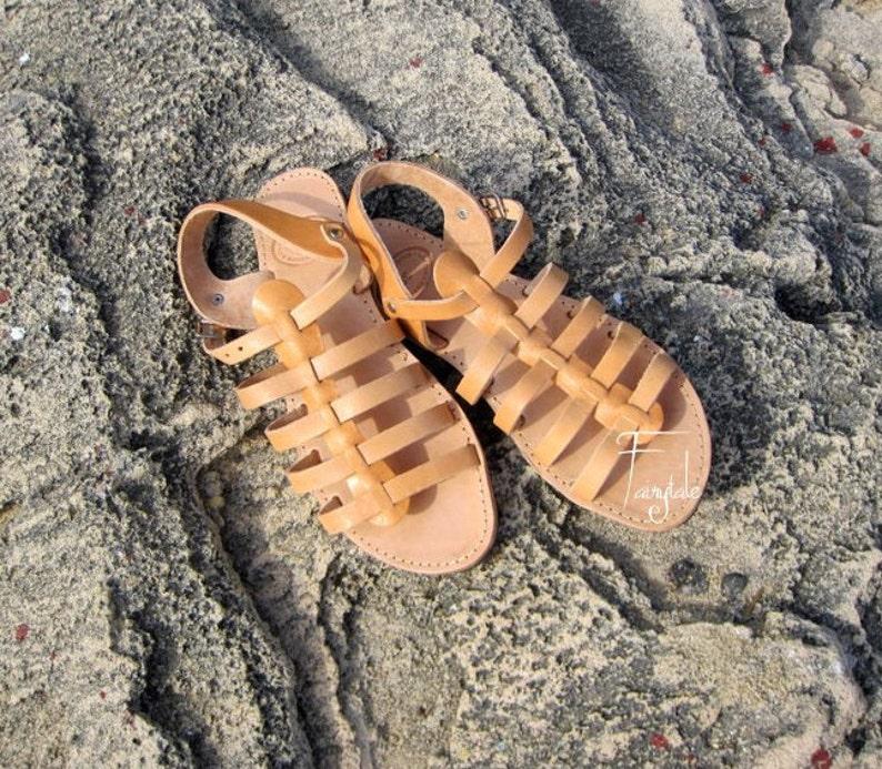 f1a33a256dc3 Spartan Greek Leather sandals Unisex greek sandals authentic