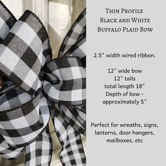 FLASH SALE Black and white buffalo plaid wreath