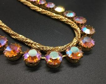 Vintage Stunning Two Strand Rhinestone Necklace