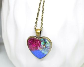 Copper necklace, Purple Necklace, White Necklace, Blue Necklace, Pendant