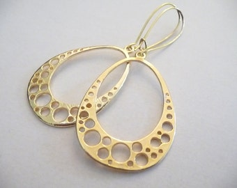 Gold Earrings, Dangle Earrings, Women Earrings