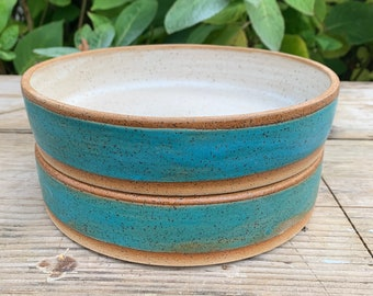 Ceramic Coupe Tray - shallow bowl  - tray in a weathered green