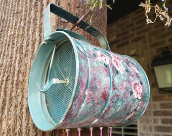 Folk Painted Flour Sifter Wind Chime